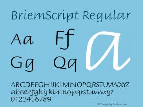 BriemScript Regular Version 1.10 Font Sample