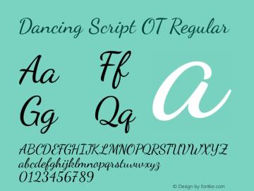Dancing Script OT Regular Version 1.000 Font Sample