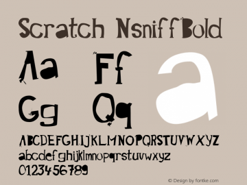 Scratch NsniffBold Version 001.000 Font Sample