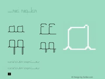 Wired Regular Version 1.0 Font Sample