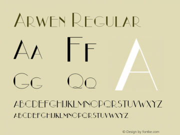 Arwen Regular Altsys Fontographer 3.5  5/18/93 Font Sample