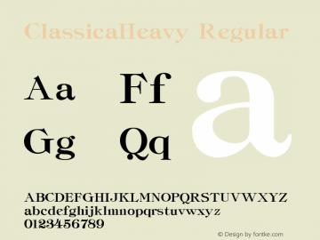 ClassicaHeavy Regular Altsys Fontographer 3.5  5/18/93 Font Sample
