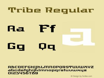 Tribe Regular Version 001.000 Font Sample