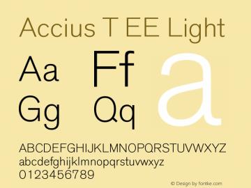accius font