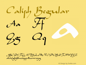 Caliph Regular 001.000 Font Sample
