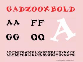 Gadzoox Bold Altsys Fontographer 3.5  5/18/93 Font Sample