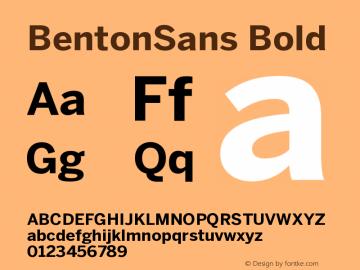 BentonSans Bold Version 001.000 Font Sample