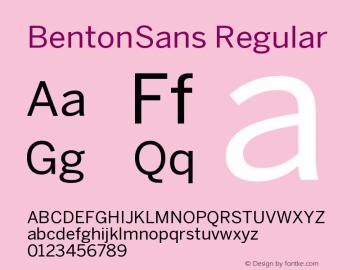 BentonSans Regular Version 001.000 Font Sample