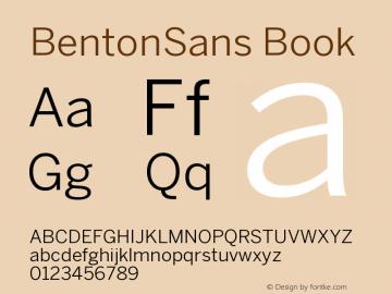 BentonSans Book Version 001.000 Font Sample