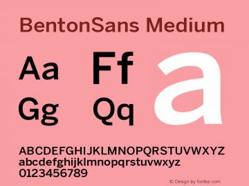 BentonSans Medium Version 001.000 Font Sample