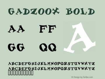 Gadzoox Bold Macromedia Fontographer 4.1 11/20/96 Font Sample
