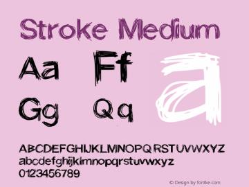 Stroke Medium Version 001.000 Font Sample