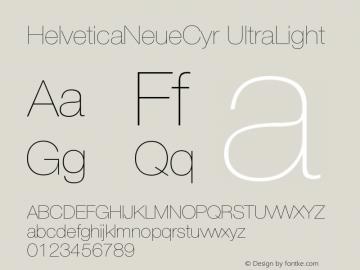 HelveticaNeueCyr UltraLight 001.000图片样张