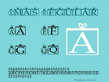 Xmas Regular Altsys Fontographer 3.5  5/18/93 Font Sample