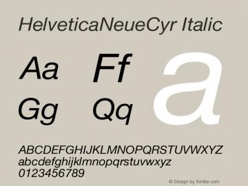 HelveticaNeueCyr Italic 001.000图片样张