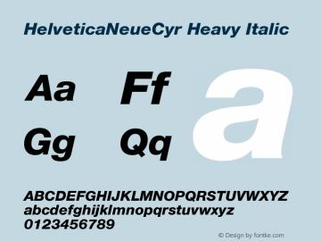 HelveticaNeueCyr Heavy Italic 001.000图片样张