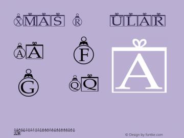 Xmas Regular Altsys Metamorphosis:1/16/93 Font Sample