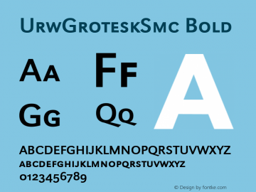 UrwGroteskSmc Bold Altsys Fontographer 3.5  21.02.1994图片样张