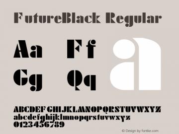 FutureBlack Regular 1.000 Font Sample