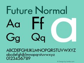 Future Normal 1.000 Font Sample