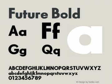 Future Bold 1.000 Font Sample