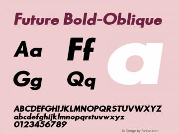 Future Bold-Oblique 1.000 Font Sample