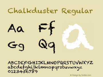 Chalkduster Regular 7.0d4e1图片样张