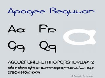 Apogee Regular Unknown Font Sample