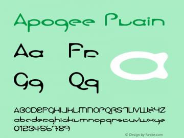 Apogee Plain Version 001.001 Font Sample
