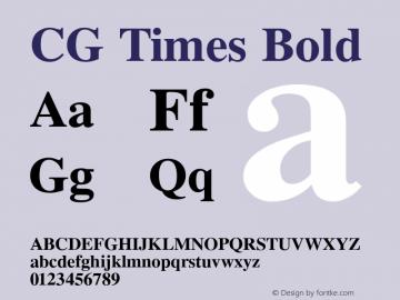 CG Times Bold Version 1.02a Font Sample