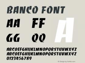 Banco Font Version 001.000 Font Sample