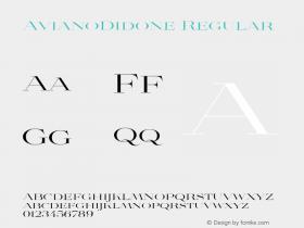 AvianoDidone Regular Unknown Font Sample