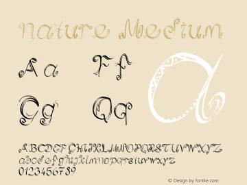 nature Medium Version 001.000 Font Sample
