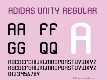 Adidas Unity Font,AdidasUnity Font|Adidas Unity Unknown Font