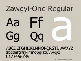 Zawgyi-One Regular 3.14 November 13, 2005图片样张