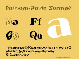 Ransom-Paste Normal 1.000 Font Sample