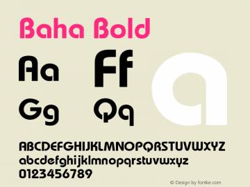 Baha Bold 1.000 Font Sample