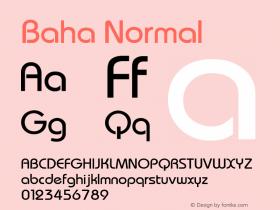 Baha Normal 1.000 Font Sample