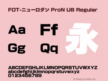 FOT-ニューロダン ProN UB Regular Version 1.000;PS 1;hotconv 1.0.50;makeotf.lib2.0.16970图片样张