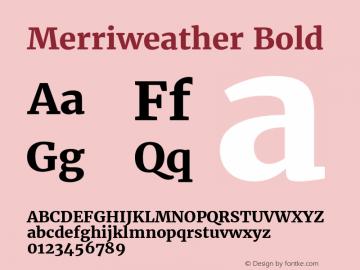 Merriweather Bold Version 1.584; ttfautohint (v1.5) -l 6 -r 36 -G 0 -x 10 -H 350 -D latn -f cyrl -w