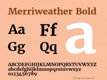 Merriweather Bold Version 1.52; ttfautohint (v0.97) -l 13 -r 13 -G 200 -x 24 -f dflt -w