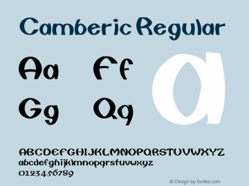 Camberic Regular Converted from C:\TTFONTS\CAMBERIC.TF1 by ALLTYPE Font Sample