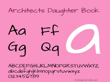 Architects Daughter Book Version 1.002 2010图片样张