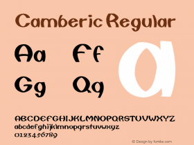 Camberic Regular Converted from D:\TRUETYPE\CAMBERIC.TF1 by ALLTYPE Font Sample