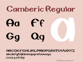Camberic Regular Converted from F:\WINDOWS\TTFONTS\CAMBERIC.TF1 by ALLTYPE Font Sample