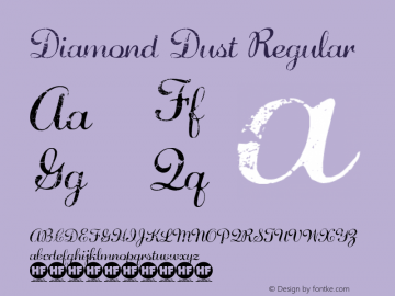 Diamond Dust Regular Version 1.00 2014 Font Sample