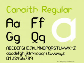 Canaith Regular 0.0 Font Sample