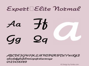 Expert-Elite Normal 1.000 Font Sample