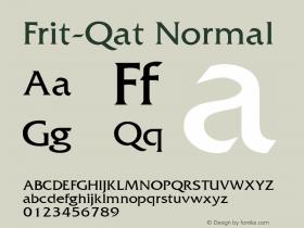 Frit-Qat Normal 1.000 Font Sample
