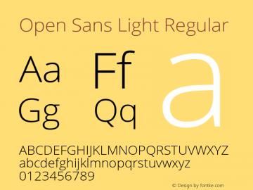 Open Sans Light Regular Version 1.10图片样张